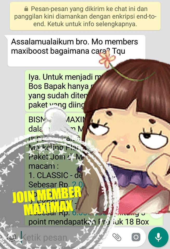 MLM maximax join member 2018