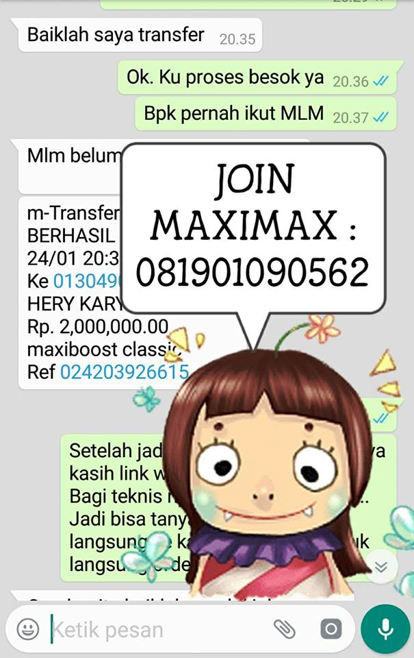 Join Member MLM MAXIMAX